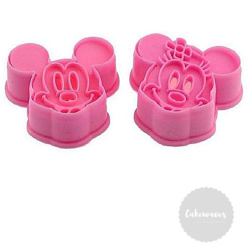 Mickey and Minnie Fondant Cutter 2pc