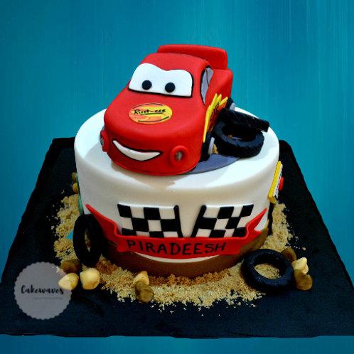 3D Lightning Mcqueen Car Birthday Cake