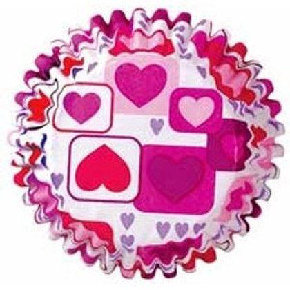 Mini Hearts Baking Cups