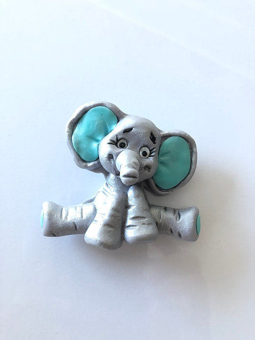 Baby Elephant Cake Topper Blue
