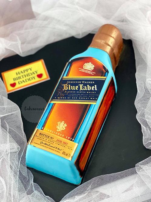Blue Label Bottle Cake