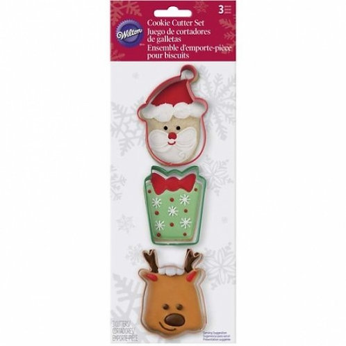 Wilton Christmas Cookie Cutter Set 3pc - Style 2