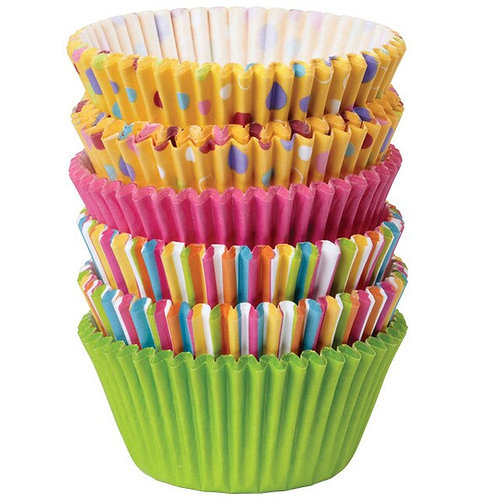 Multi Pack Cupcake cases - Sweet Dots and Stripes 150 pcs