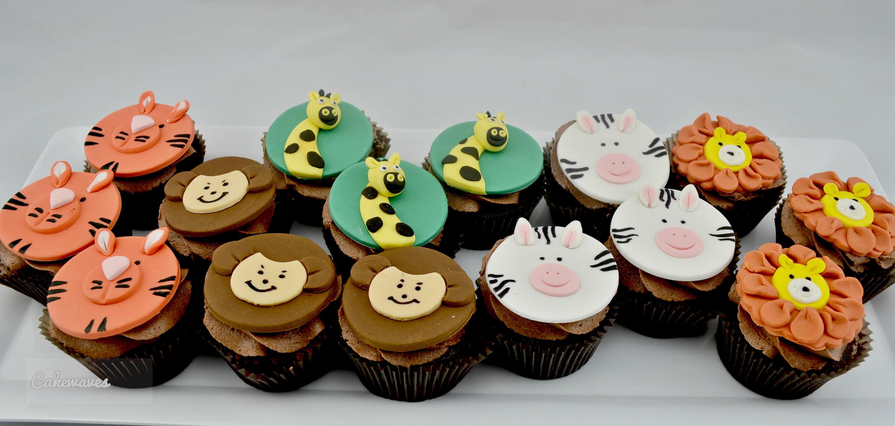 SafariAnimalsCupcakes_cakewaves