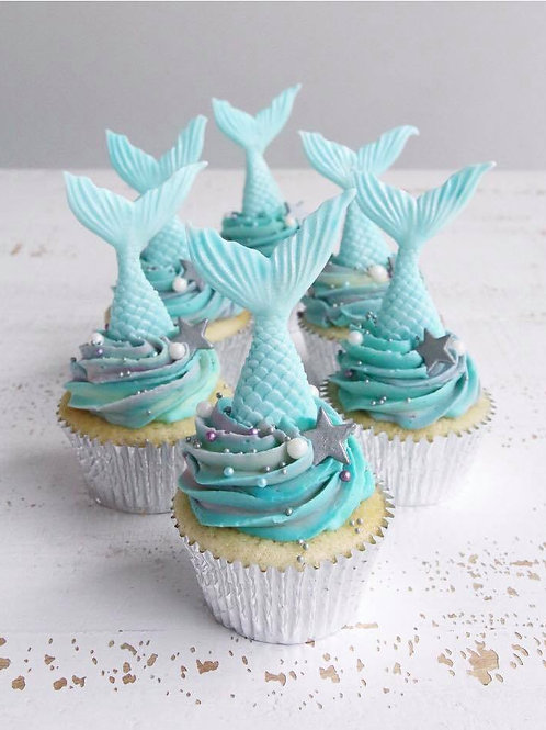 Mermaid Madness - 12 Standard Size Cupcakes