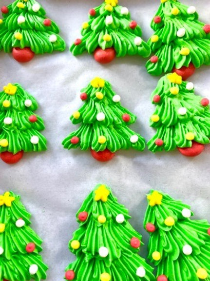 Christmas Tree Royal Icing Decals - 1pc