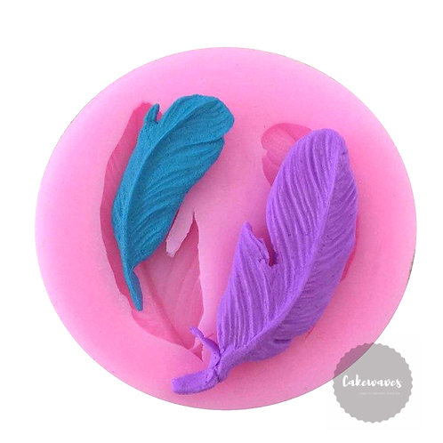 Feather Dual Cavity Silicone Moluld