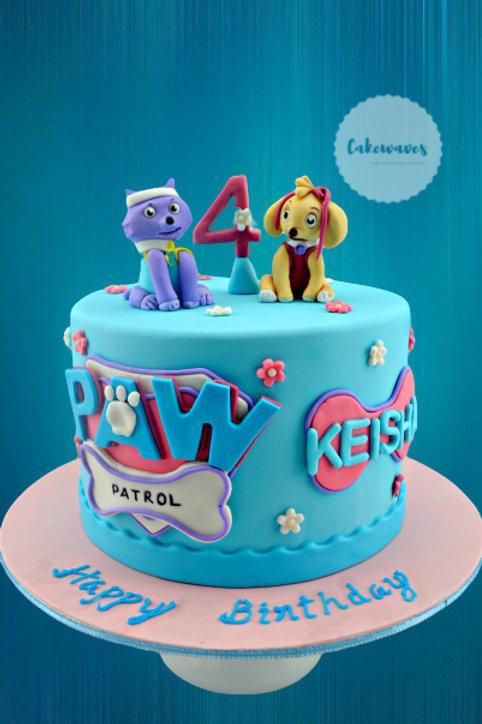 Paw Patrol Syke And Everest Birthday Cake