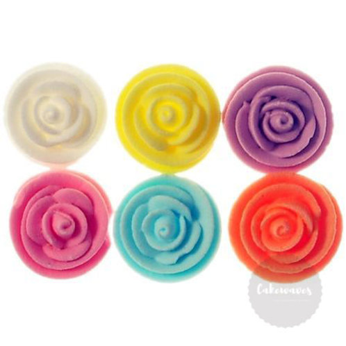 Rose Whirl Baby Assorted 1.3cm - 6pc Hangsell