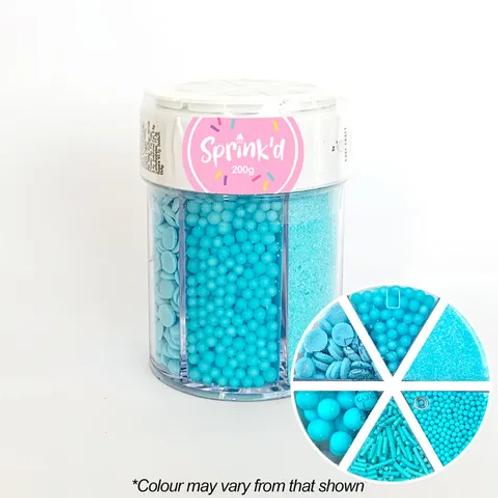 Sprink'd Multi Cavity Sprinkle Jar - Pastel Blue