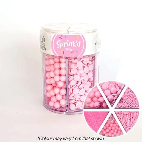 Sprink'd Multi Cavity Sprinkle Jar - Pastel Pink