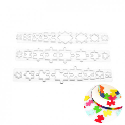 Jigsaw Puzzle Pattern Impression Cutter Set 3pc