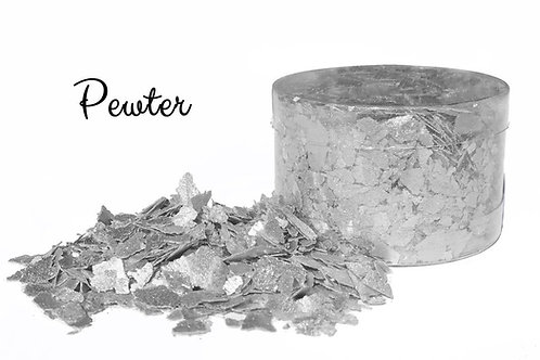 Crystal Candy SILVER MOON/PEWTER Edible Flakes 6g