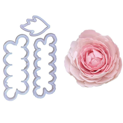 Peony Petal Cutter 3pc With Leaf