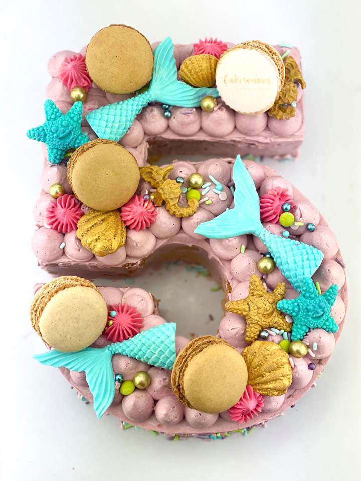 Number Mermaid Cake