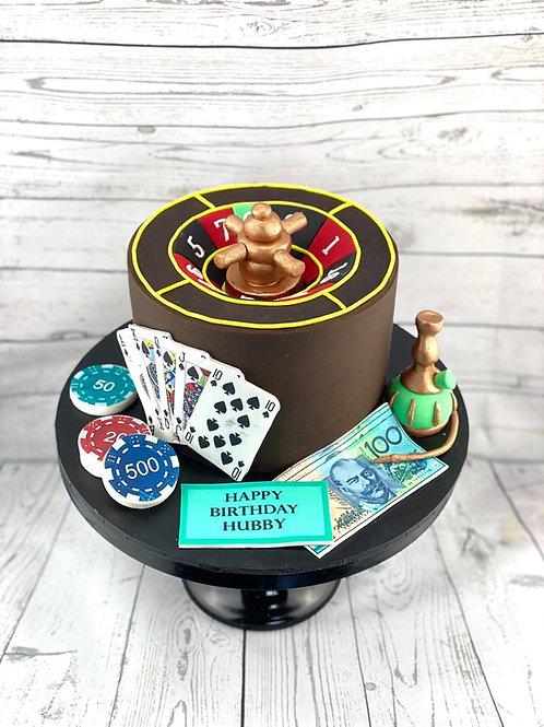 Casino Themed Fondant Cake