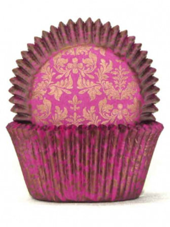 Cupcake Cases / Baking Cups Standard High Tea 100pc - Pink / Gold