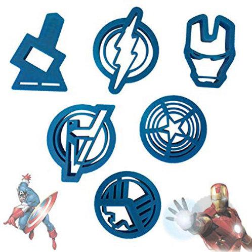 Captain America Super Hero Fondant Cutter 6pc