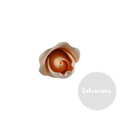 Peach Rose Bud Edible Sugar Flower 4cm