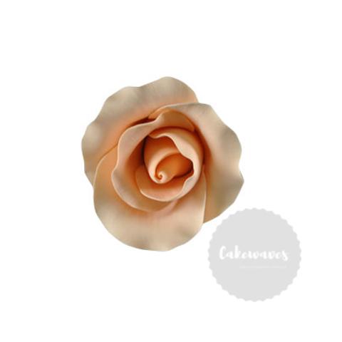 Peach Rose Edible Sugar Flower Medium 5cm