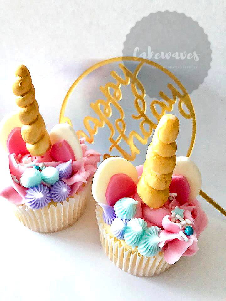Unicorn Cupcakes blue