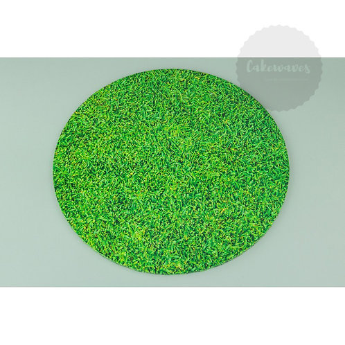 Round Grass Patterned Masonite Cake Board 12 Inch