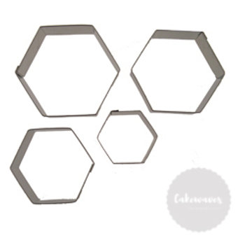 Hexagon 4pc Stainless Steel Cookie Cutter