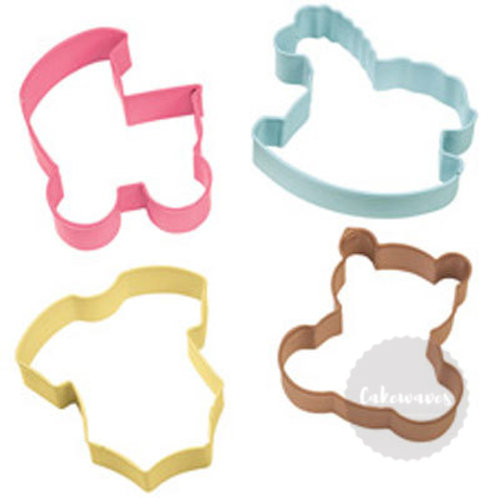 4 Piece Baby Cookie Cutter Set - Wilton
