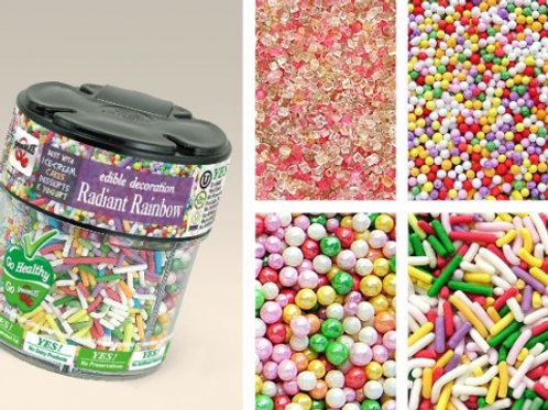 Quality Sprinkles 4 in 1 Mixed Jar - Rainbow 78g