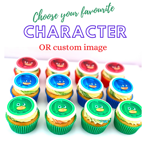 Character Cupcakes - 12 Standard Size Cupcakes