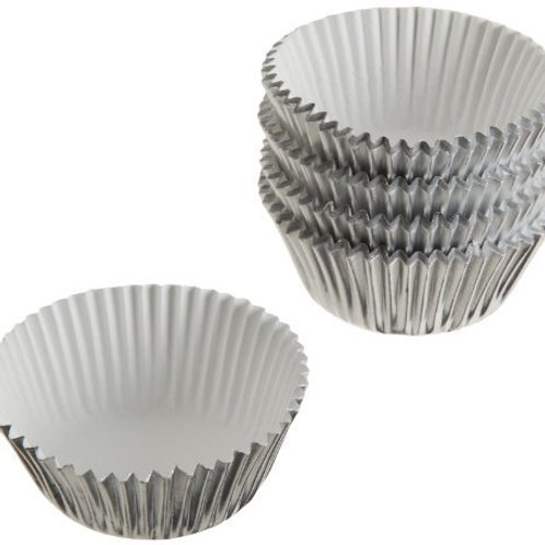 Standard Silver Foil Cupcake case or patty pan or baking cup