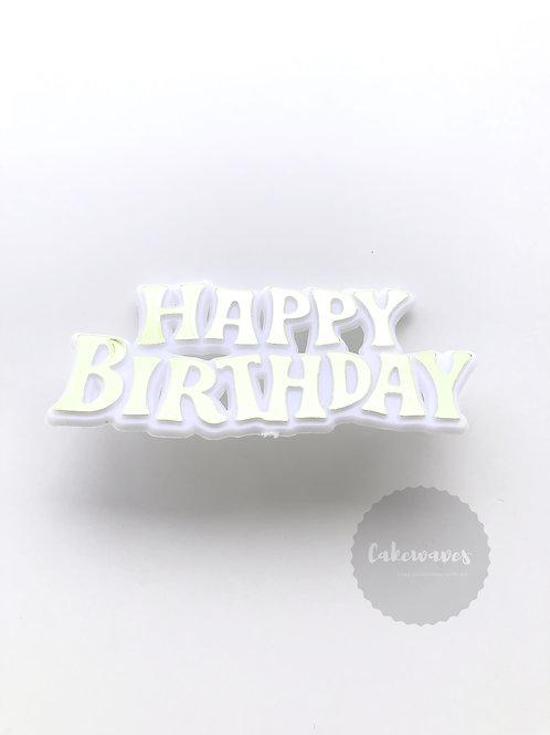 Happy Birthday Cake Topper Script - Gold