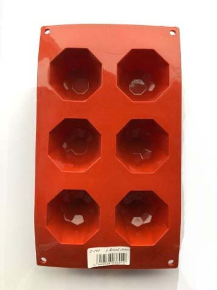 6 Cavities Round Jewel Silicone Bakeware Mould