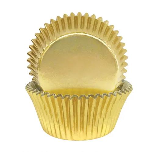 Small Foil Cupcake Case 72pc - Gold