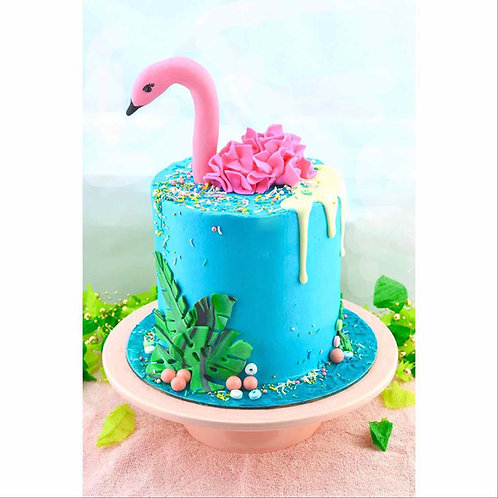 Fondant and Buttercream Flamingo Cake Class - 18 Jan 2020