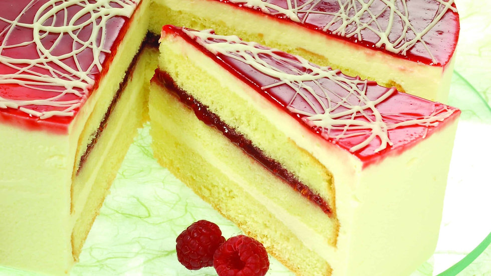 Limoncello Raspberry Cake