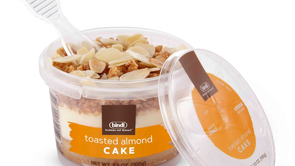 Toasted Almond Cake Cup