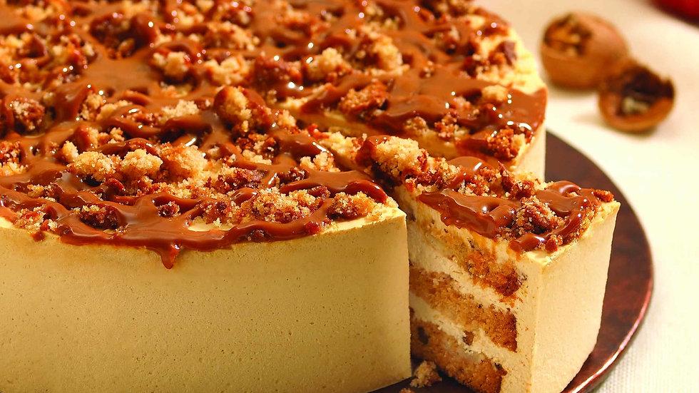Caramel Apple Walnut Cake