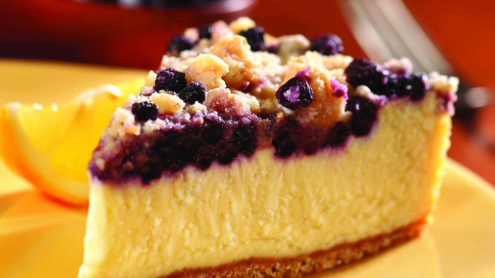 Lemon Blueberry Crumb Cheesecake