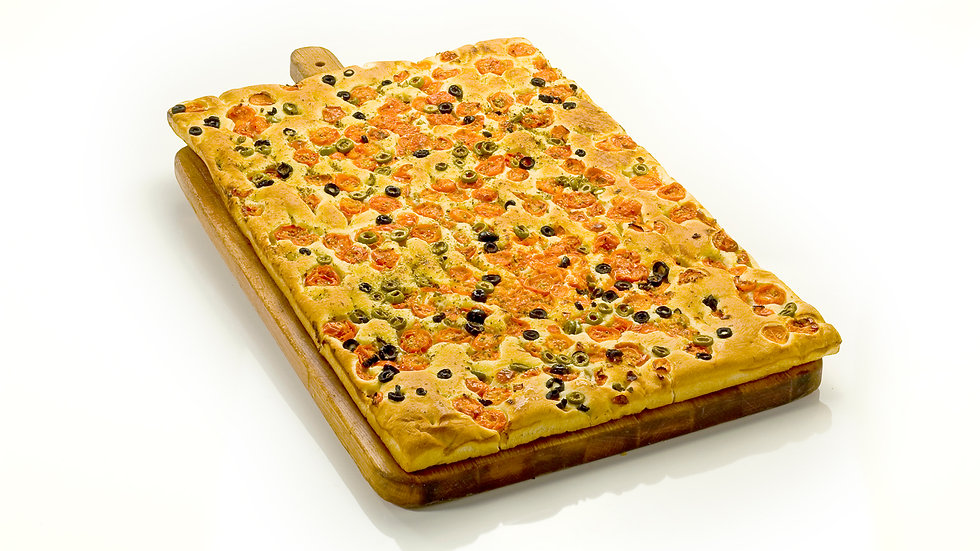 Focaccia Cherry Tomatoes& Olives