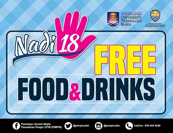 Nadi 18:  FreeFood & Drinks