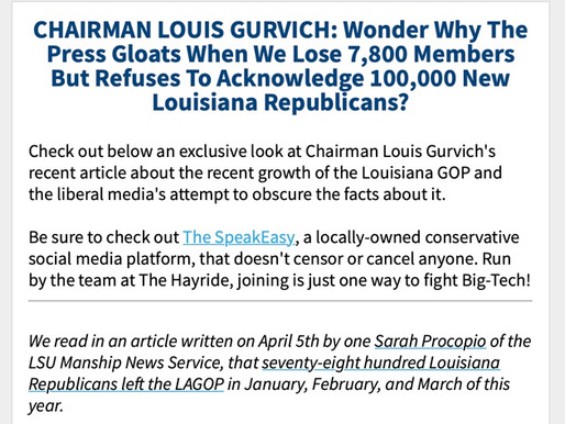 CHAIRMAN LOUIS GURVICH: Wonder Why The Press Gloats When We Lose 7,800 Members But Refuses To...