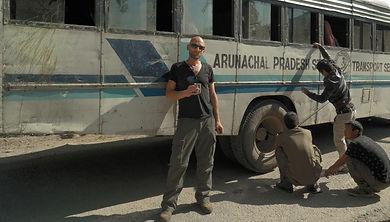 Wojtek Stark in Daporijo, Arunachal Pradesh, India.