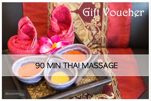 $100, 90 mins Traditional Thai Massage