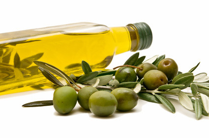 Fotolia; bottle of olive oil; olive cluster