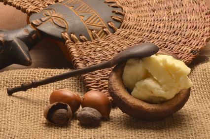 Fotolia; shea nuts and shea butter