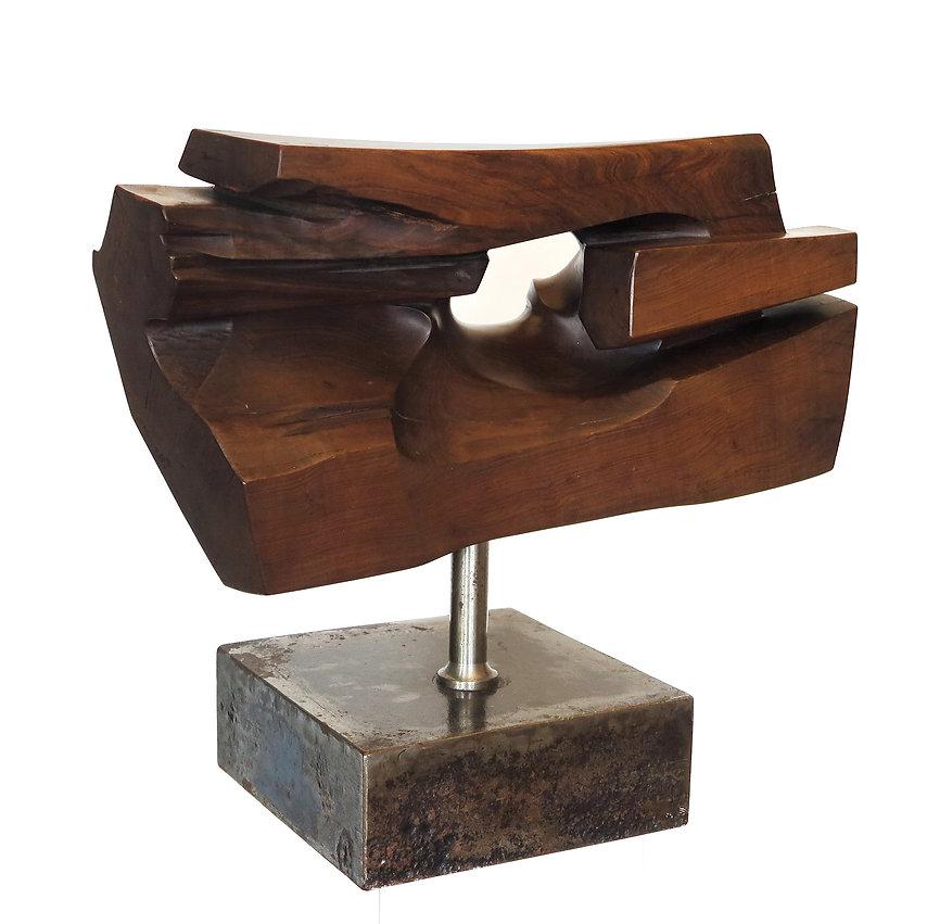 Skulptur Holz/Stahljpg