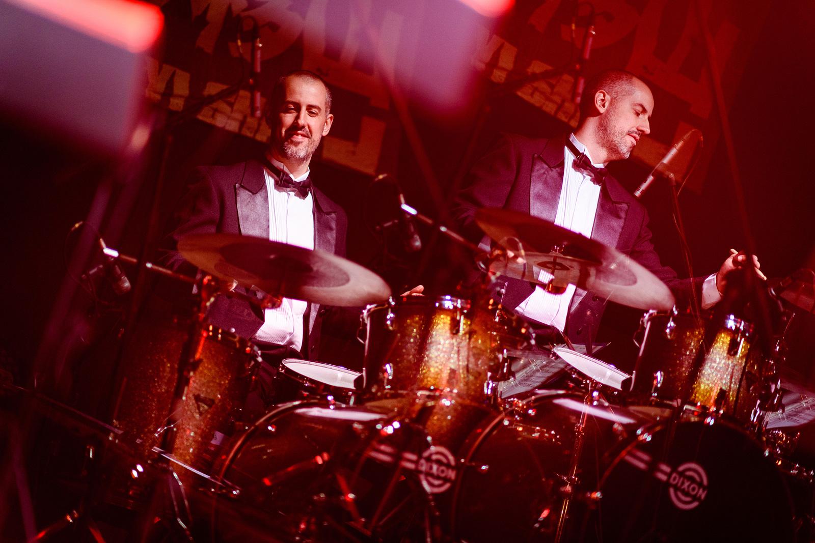 Diego Gil na bateria