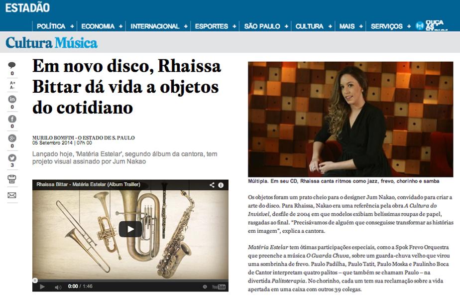 Sept/2014 - Estado de S. Paulo