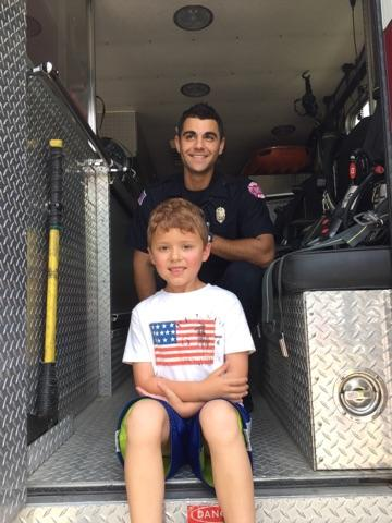 July 4 2017 - Visiting the ambulance!